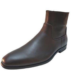 Calvin Klein Men's Llewin Dark Brown Dress Leather